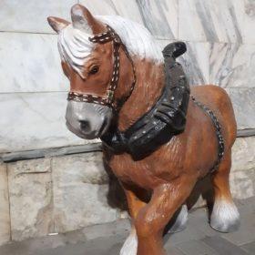 """Садовая фигура """"Лошадь с хомутом"""" - 1"""