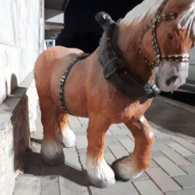 """Садовая фигура """"Лошадь с хомутом"""" - 2"""